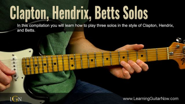 Clapton, Hendrix, Betts Solos