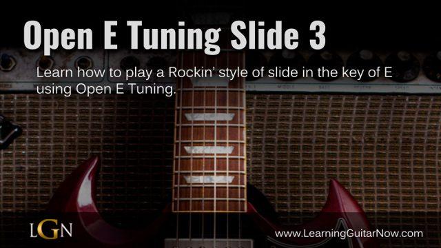Open E Tuning Slide 3