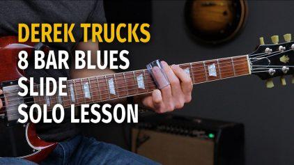 Derek Trucks Style 8 Bar Blues Slide Solo – Podcast 57