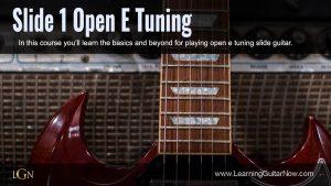 Slide Method 1 Open E Tuning