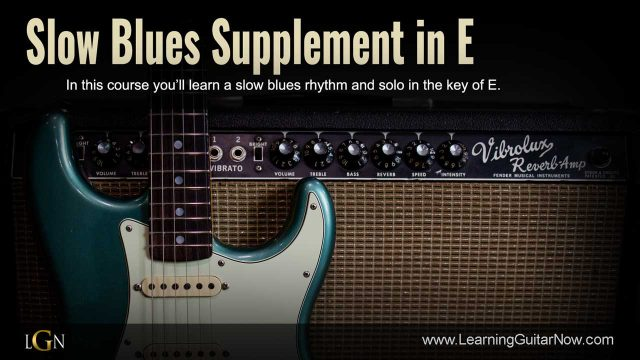 Slow Blues Supplement in E