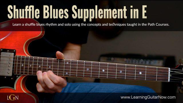 Shuffle Blues Supplement in E
